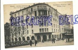 France. Côte D'Or. Dijon. Hôtel Central (face Aux Postes). Carte Animée - Hotels & Restaurants