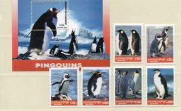 CAMBODGE 2001 / Superbe Série De 6 Valeurs + Bloc Dentelées MNH - Préservation Des Régions Polaires & Glaciers