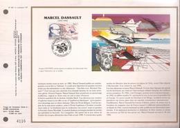 Francia, Obliterations,1988, Marcel Dassault - Preobliterados