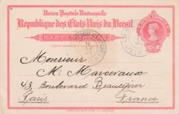 BRESIL  :  Entier Postal De 1913 De Para Bélem Pour La France - Brésil