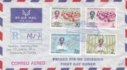 HAITI  : Albert  Schweitzer X 4 Sur 1 Er Jour Recommandé Pour Les USA - Haïti