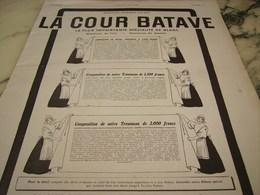 ANCIENNE PUBLICITE MAGASIN TROUSSEAUX  COUR BATAVE  1910 - Habits & Linge D'époque