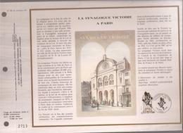Francia, Obliterations,1988, Synagogue Victoire A Paris - Preobliterados