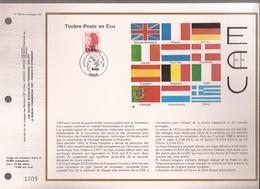 Francia, Obliterations,1988, Timbre Poste ECU - Preobliterados