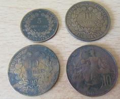 France - Lot De 4 Monnaies - 5c 1890 A, 10c Cérès 1883 A1 1894 A Et Dupuis 1913 - TB à TTB - France