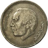 Monnaie, Maroc, Al-Hassan II, 1/2 Dirham, 1987, Paris, TTB, Copper-nickel, KM:87 - Maroc