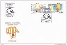 32023. Carta F.D.C. LISBOA (Portugal) 1980. Tabaco. Salud. Medicina. Tobacco - FDC