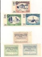 3 Notgeldscheine Reichental 10, 20 + 50 H - Autriche