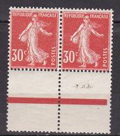 N° 160 Type Semeuse Fond Plein: Belle Paires De 2 Timbres  Neuf Impeccable Sans Charnière - France