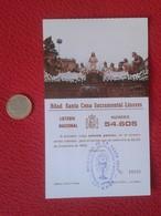 SPAIN PARTICIPACIÓN DE LOTERÍA NACIONAL NATIONAL LOTTERY LOTERIE NATIONALE RELIGIÓN CHRIST JESÚS SANTA CENA LINARES VER - Billetes De Lotería