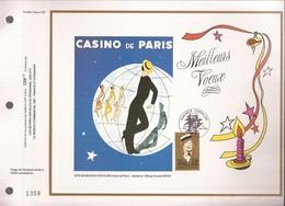 Francia, Obliterations,1990, Maurice Chevalie, Casino De Paris - Preobliterados