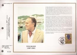 Francia, Obliterations,1990, Tino Rossi - Preobliterados