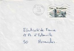TP N° 2253 Seul  Sur Enveloppe De Gavray - 1961-....