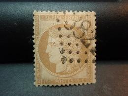 TIMBRE TYPE CERES 15 C ORANGE, TIMBRE OBLITERE 1870 Numéroté Couleur Claire, Avec Charnière - 1870 Siege Of Paris