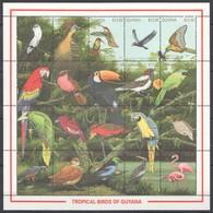 L929 GUYANA FAUNA TROPICAL BIRDS OF GUYANA 1SH MNH - Birds