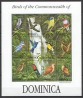 L932 COMMONWEALTH OF DOMINICA FLORA & FAUNA BIRDS TRAFALGAR FALLS 1SH MNH - Birds