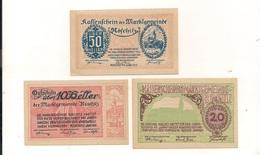 3 Notgeldscheine Röschitz 10, 20 + 50 H - Autriche