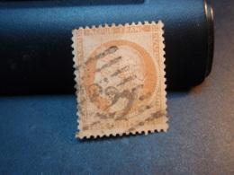 TIMBRE TYPE CERES 40 C ORANGE, TIMBRE OBLITERE 1870 Numéroté Couleur Claire Intermédiaire - 1870 Siege Of Paris