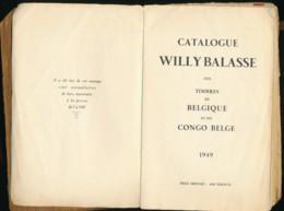 Catalogue Willy Balasse - Belgique Et Congo Belge 1949 - Etat = Utilisés Intensivement. - Handbooks