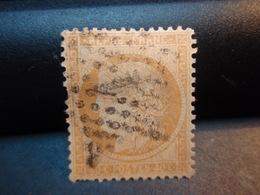 TIMBRE TYPE CERES 40 C ORANGE, TIMBRE OBLITERE 1870 Numéroté  1 Couleur Claire, Avec Charnière - 1870 Siège De Paris
