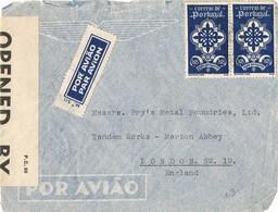 32026. Carta Aerea PORTO (Portugal) 1941. CENSOR, Censura Britanica , Examiner 380 - 1910-... República