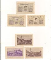 3 Notgeldscheine Reichersberg A. I. 10, 20 + 50 H - Autriche