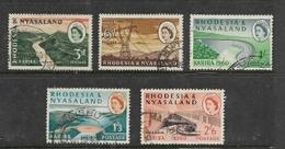 Rhodesia & Nyasaland 1960, Kariba Dam Opening, Short Set 3d - 2'6, Used - Rhodesia & Nyasaland (1954-1963)