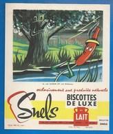 93 - SAINT-OUEN - BUVARD ILLUSTRÉ - BISCOTTES DE LUXE SNELS - FABLE DE LA FONTAINE  N°12 - LE CHÊNE ET LE ROSEAU - Biscottes