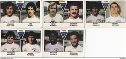 PANINI FOOTBALL 1979 LOT DE 5 IMAGES TOURS - Panini