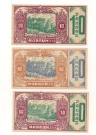 3 Notgeldscheine Rodaun 10, 10 + 10 H - Autriche