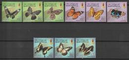 BRUNEI - N°740/2+745/7+751/3 ** (2012-13) Papillons - Brunei (1984-...)