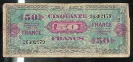 Billet 50 Francs France 1944 Série 2 - 1945 Verso Francés