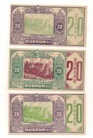 3 Notgeldscheine Rodaun 20, 20 + 20 H - Autriche