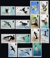 South Georgia And S. Sandwich Isl 1987 - Definitive Stamps: Birds - Mi 150-164 ** MNH - South Georgia
