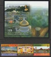 BRUNEI - N°748/9 + BLOC N°42 ** (2013) Sommet De L'association Des Nations De L'Asie Du Sud-Est - Brunei (1984-...)