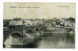 Tournus - Pont Sur La Saône Et Tramway (dit Le Tacot) Qui Part En Direction De Louhans - Circ Sans Date - France