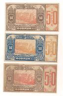 3 Notgeldscheine Rodaun 50, 50 + 50 H - Autriche