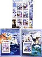 GUINEE 2008 / Superbe Serie 6 Valeurs Sur Bloc + 2 Blocs Dentelées MNH - Préservation Des Régions Polaires & Glaciers