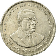 Monnaie, Mauritius, 5 Rupees, 1991, TB+, Copper-nickel, KM:56 - Maurice