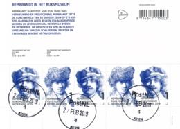 Nederland - 2019 - Velletje Rembrandt In Het Rijksmuseum - Echt Gebruikt - Periode 2013-... (Willem-Alexander)