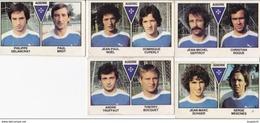 PANINI FOOTBALL 1979 LOT DE 5 IMAGES AUXERRE - Panini