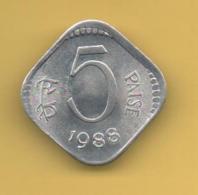 INDIEN - INDIA  -  5 PAISA 1988 SC  KM691 - Inde