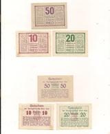 3 Notgeldscheine Ried 10, 20 + 50 H - Autriche