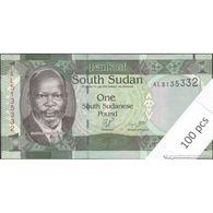 TWN - SOUTH SUDAN 5 - 5 Pounds 2011 DEALERS LOT X 100 - Prefix AL - Full Bundle UNC - Soudan Du Sud