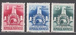 Indonesia - Correo 1955 Yvert 109/11 ** Mnh - Indonésie