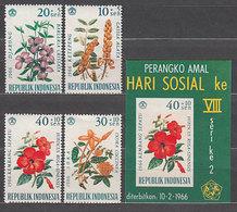 Indonesia - Correo 1965 Yvert 440/3+Hb 5 ** Mnh  Flores - Indonésie