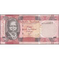 TWN - SOUTH SUDAN 6 - 5 Pounds 2011 Prefix AE UNC - Sudan Del Sud
