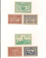 3 Notgeldscheine Ried Bei Mauthausen 10, 20 + 50 H - Autriche