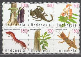 Indonesia - Correo 2004 Yvert 2111/6 ** Mnh  Fauna Y Flora - Indonesia