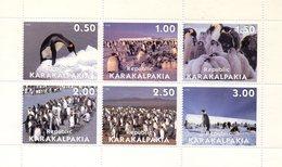 KARAKALPAKIA RUSSIE 1998 / Superbe Serie 6 Valeurs Sur Bloc Dentelées MNH - Préservation Des Régions Polaires & Glaciers